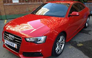 Audi rood