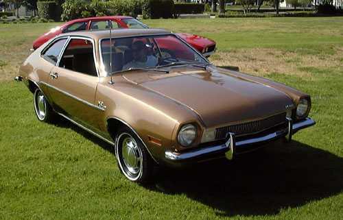 De licht ontvlambare Ford Pinto