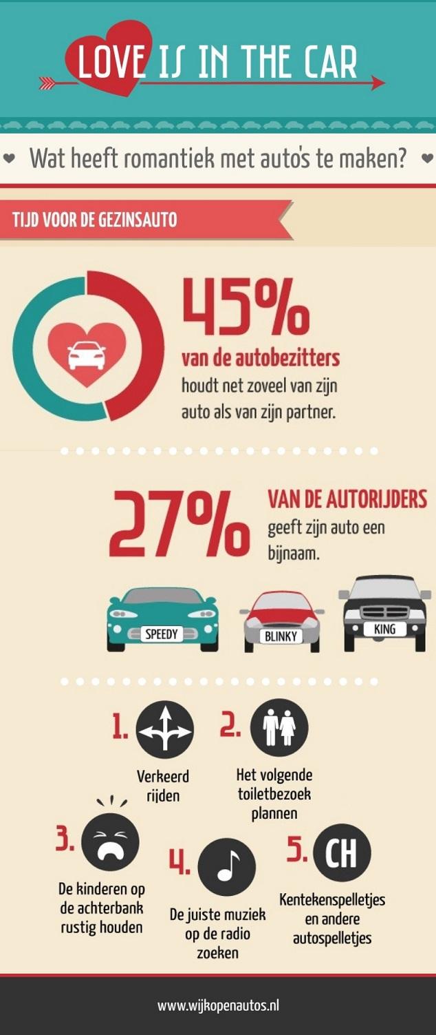 Valentijnsdag cadeau infographic